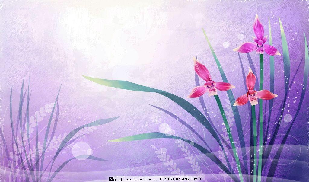 炫彩花卉图片_花边花纹_底纹边框_图行天下图库