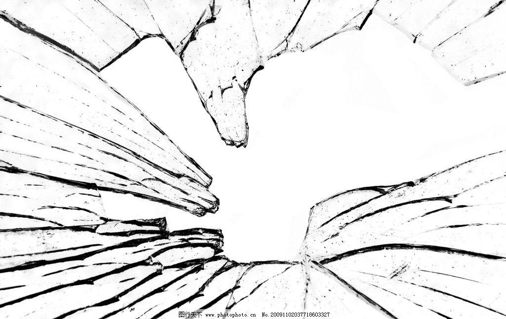 玻璃裂痕高清图片