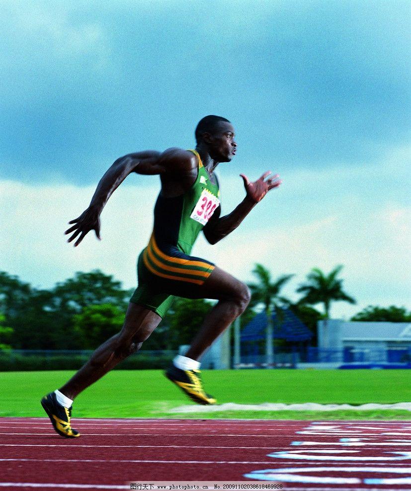 跑步 冲刺 黑人 体育运动