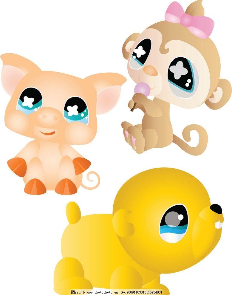 儿童简笔画素材图片动物小猴子高清图片    p4.zbjimg.
