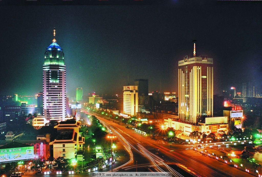 山西太原 太原夜景 国内旅游 摄影图片