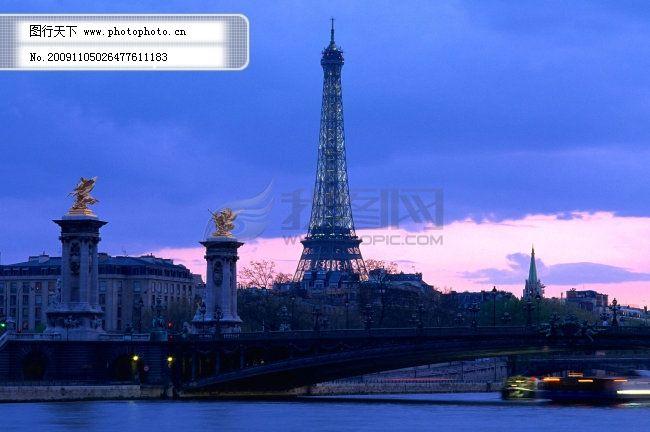 巴黎106 巴黎风景 水面 铁塔 云海 图片素材 风景生活旅游餐饮
