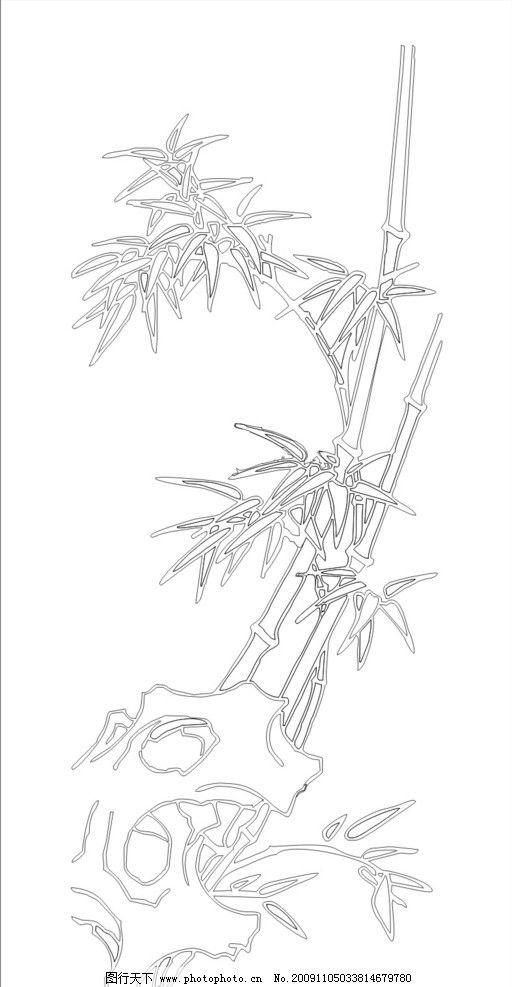 竹子 竹叶 矢量素材 其他矢量