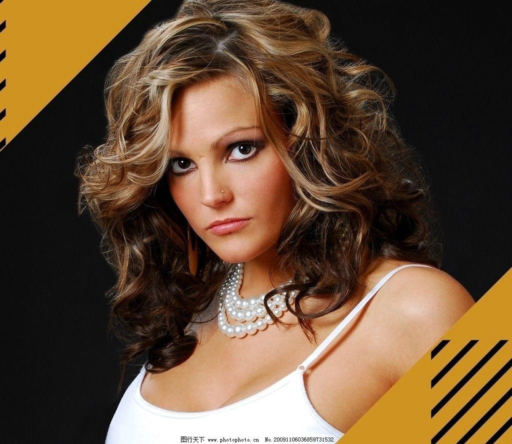 美发 金色卷发 发型设计 红颜美妆 欧美明星 时尚美女 女性女人 人物图片