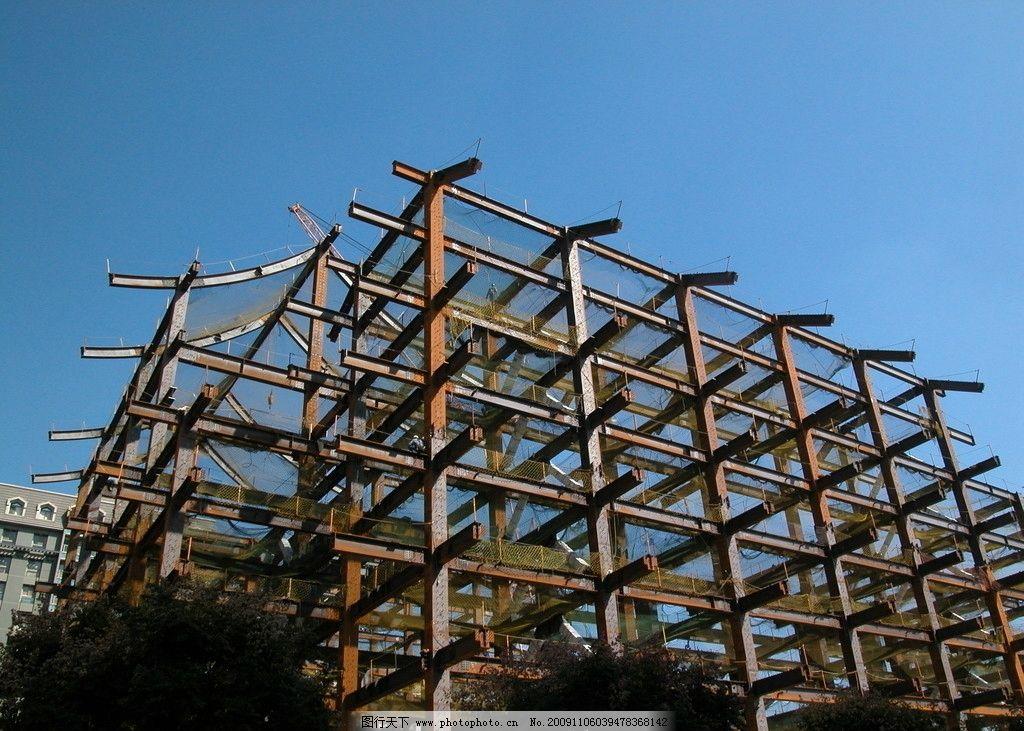 慈济钢骨结构 建筑 施工 台湾 栾树 摄影 原创 建筑摄影 建筑园林