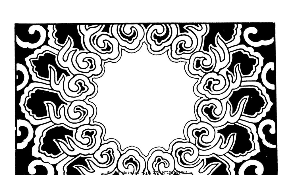 元代 明朝 明代 清朝 清代 古代 古典 图案 花边 底纹 黑白 花边花纹