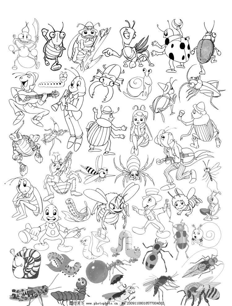 昆虫 爬行小动物 gif动画 动漫动画 设计 300dpi jpg