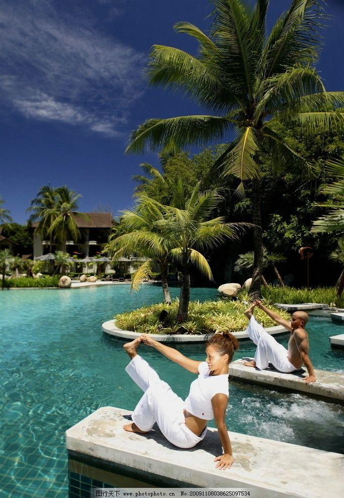 水边瑜伽图片