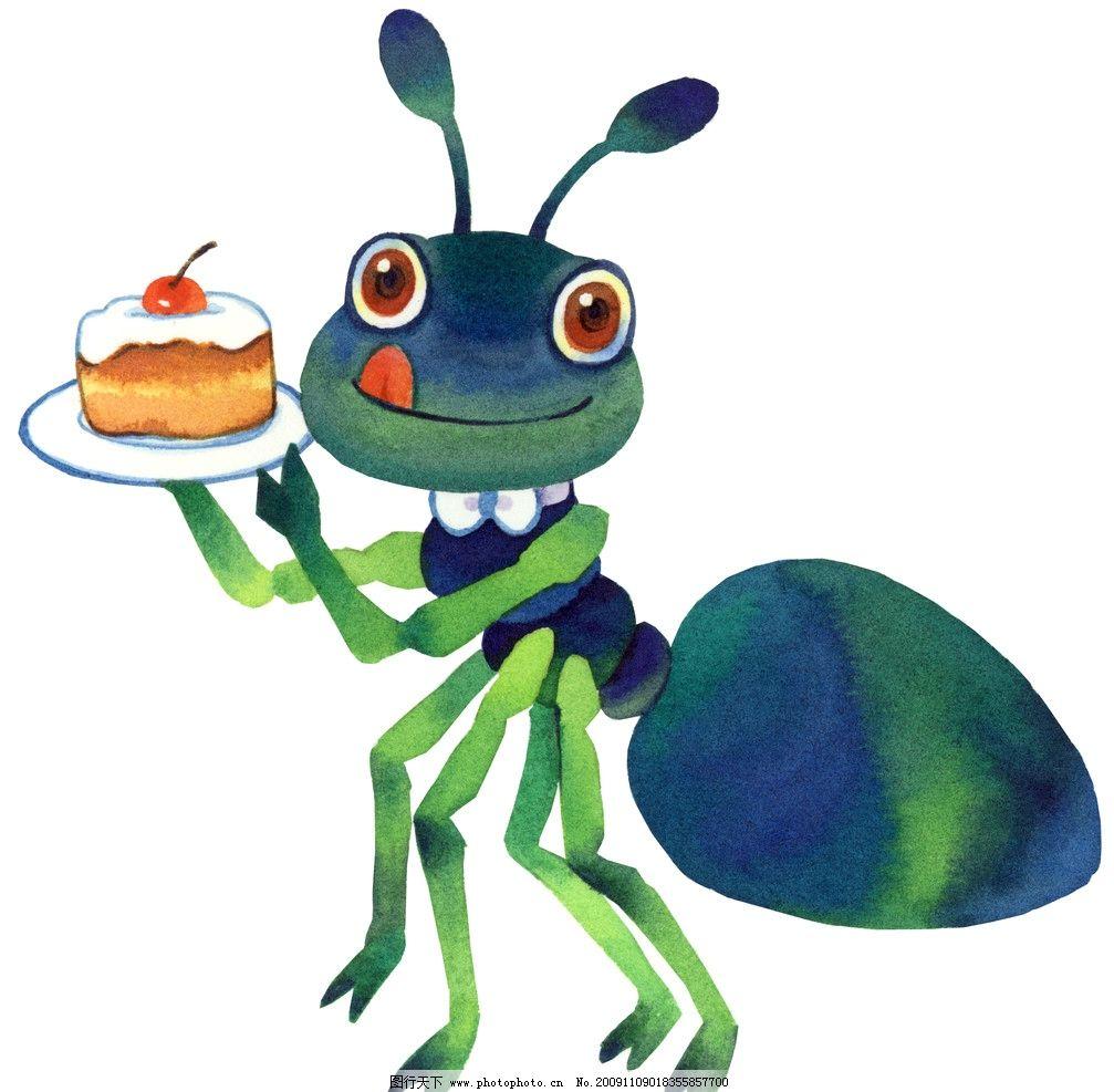 绿色蚂蚁 卡通人物 矢量格式 动漫人物 动漫动画 设计 400dpi jpg
