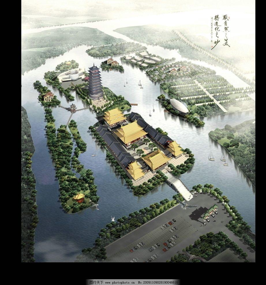 风景区小岛平面设计