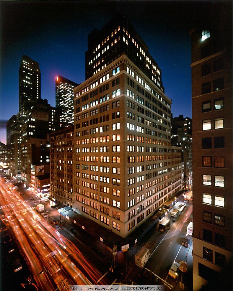 夜景大厦 建筑大楼图片