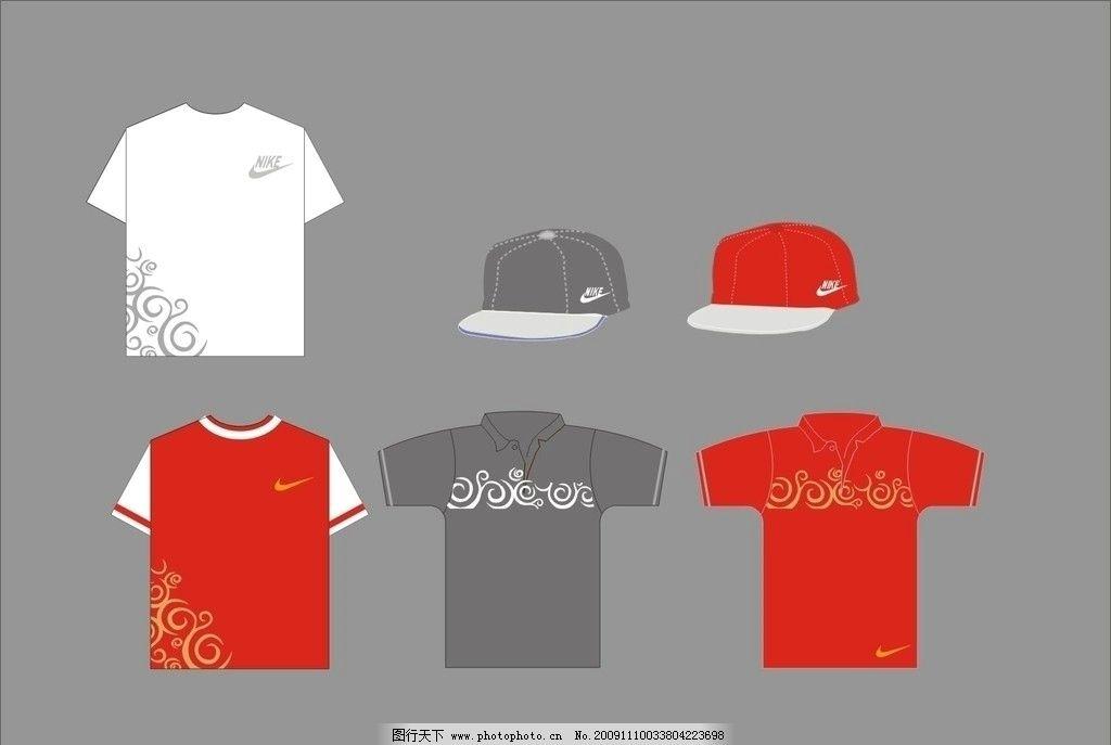 t恤 帽子 矢量服装 矢量帽子 衣服 半袖t恤 红色t恤 白色t恤 灰t恤 灰