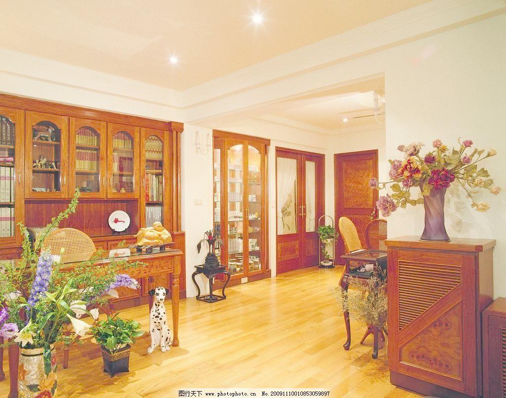 欧式豪华客厅一角高清摄影 室内装修 客厅 地板 室内摆设 室内摄影 建
