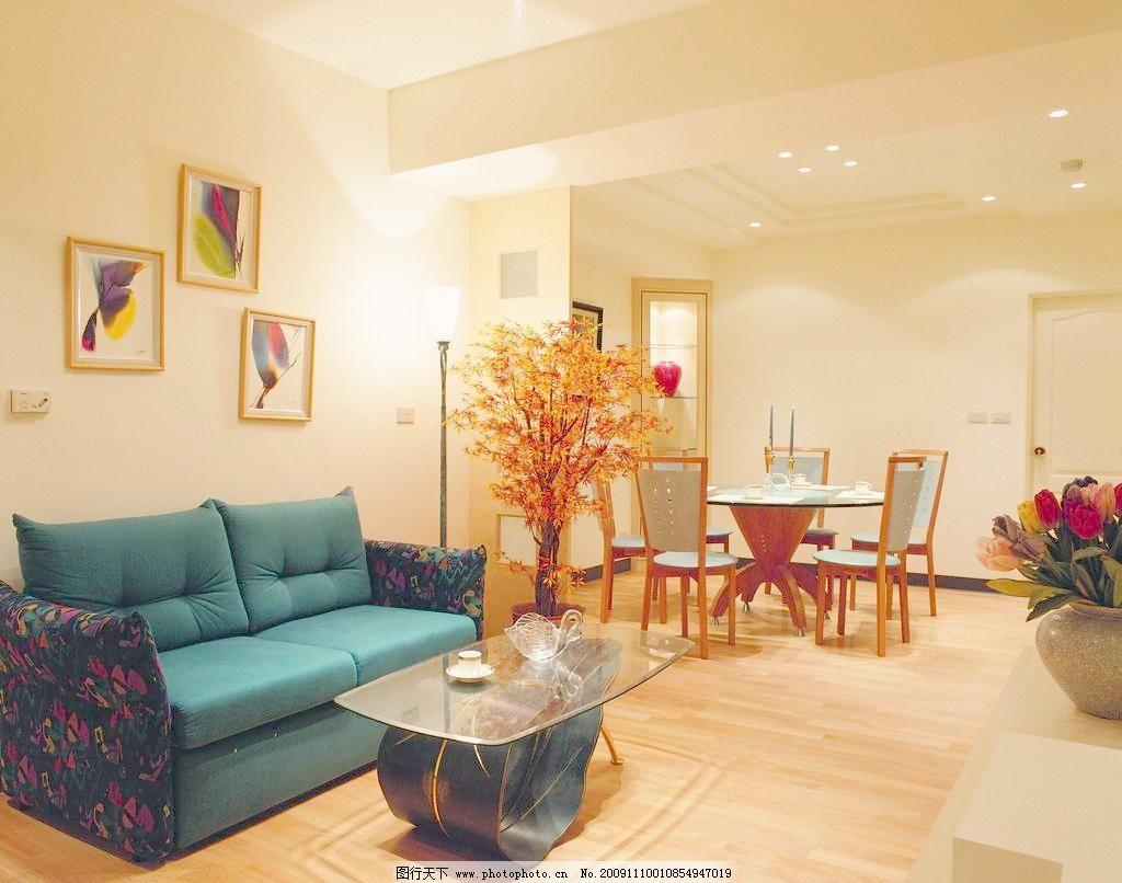 室内摄影 室内装修 欧式豪华客厅一角高清摄影图片