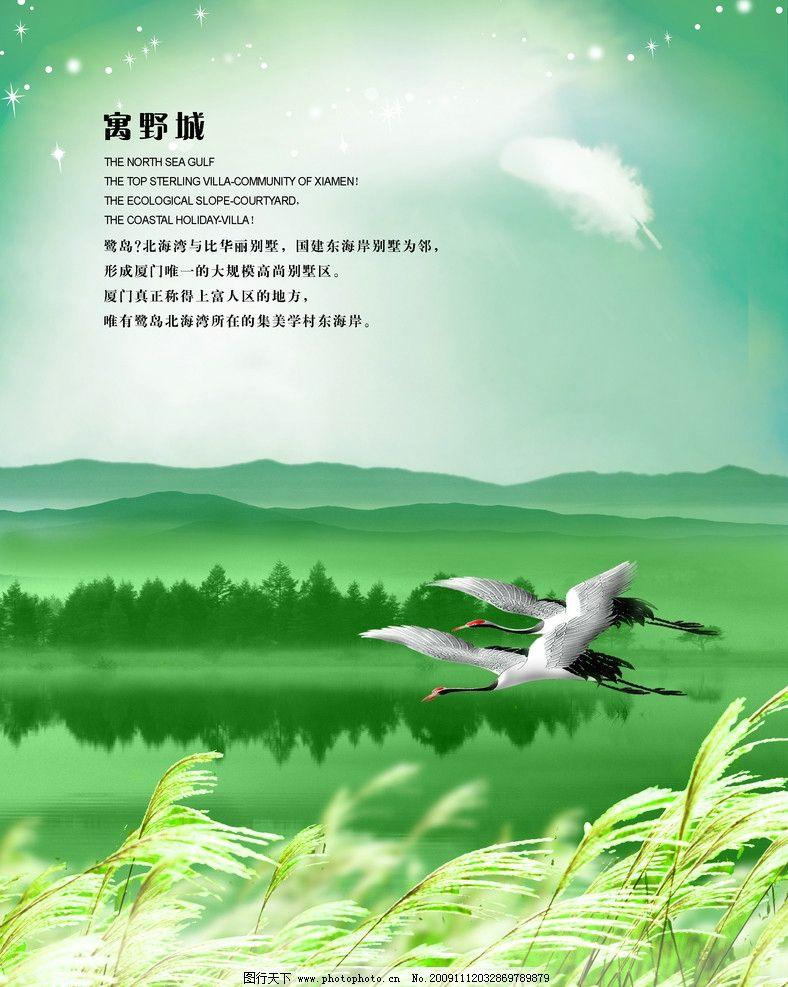 寓野城 芦苇 湖面 湖水 天鹅湖 仙鹤 山 远山 星星 羽毛 美景