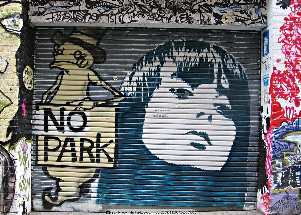 涂鸦 墙体涂鸦 汽车 绘画 墙体绘画 卷帘门 店面 女人 头像