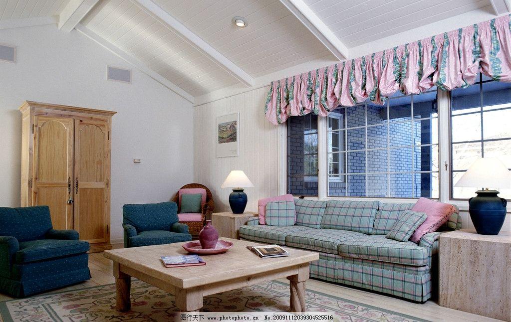 欧式豪华客厅一角高清摄影 室内装修 地板 茶几 室内摆设 室内摄影