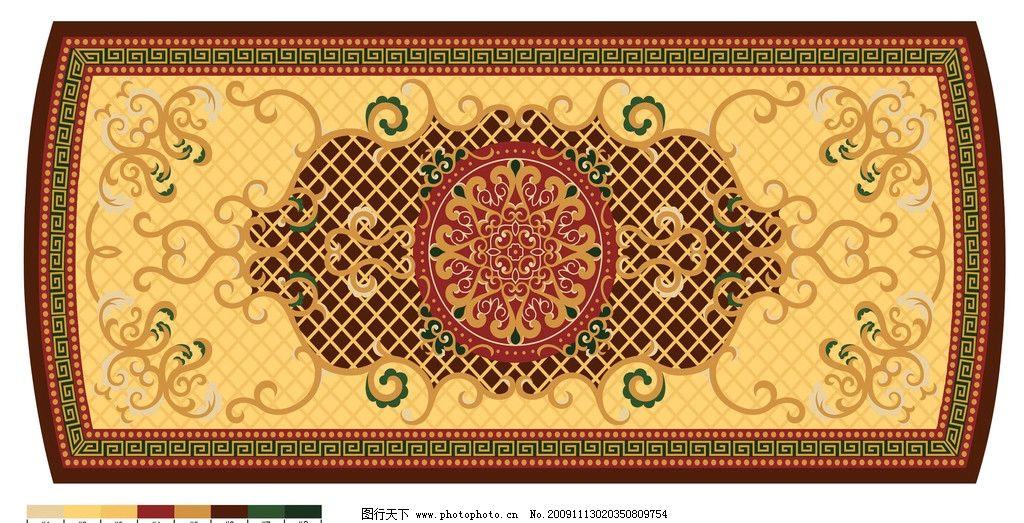 地毯奢华花纹psd