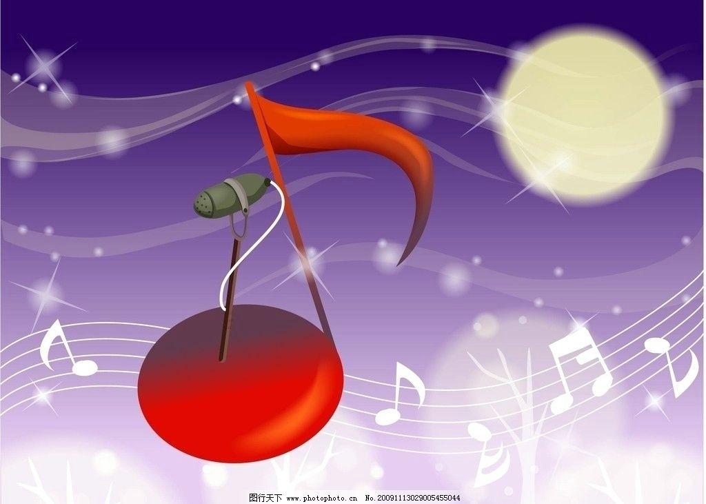 移门 音乐符号 线条 月亮 星光 麦克风 神宏 树枝 其他设计 环境设计