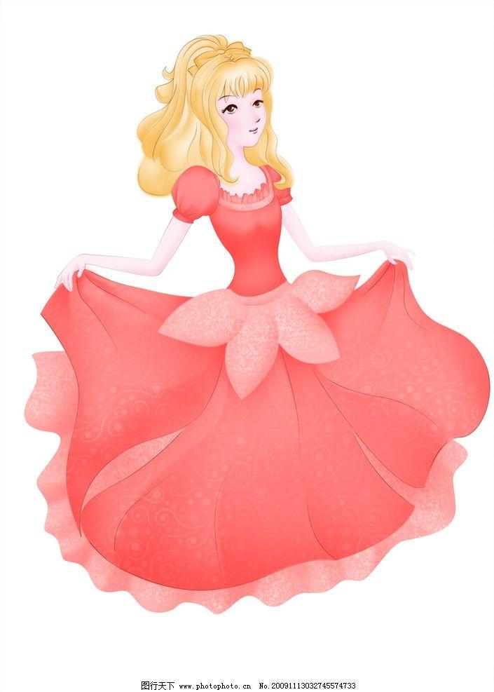 可爱公主 手绘 可爱 公主 粉色 人物 psd分层素材 源文件 300dpi psd