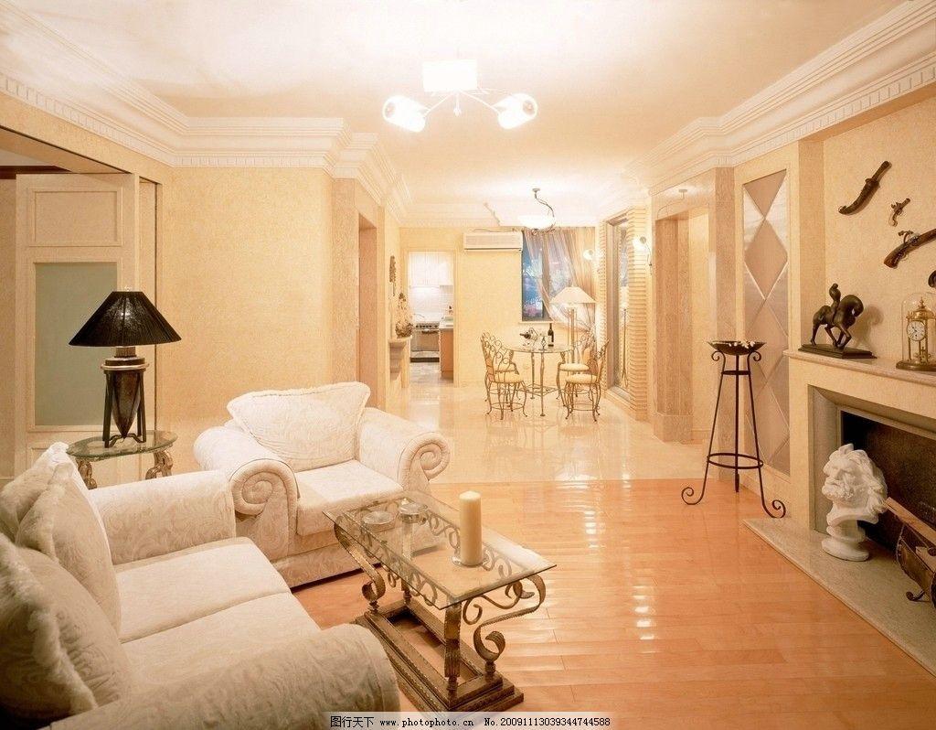 欧式高清客厅 精美装修一角 室内装修 沙发 茶几 地板 室内摆设