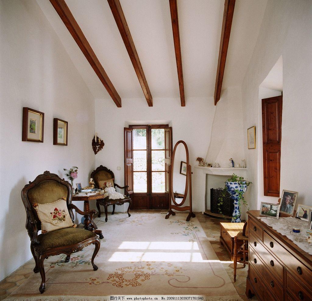 欧式高清客厅 精美装修一角 室内装修 椅子 地板 室内摆设 室内摄影
