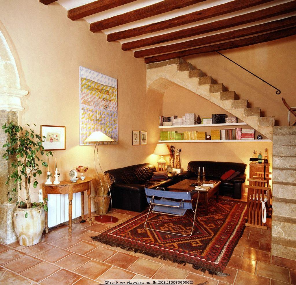 欧式高清客厅 精美装修一角 室内装修 桌子 地板 室内摆设 室内摄影