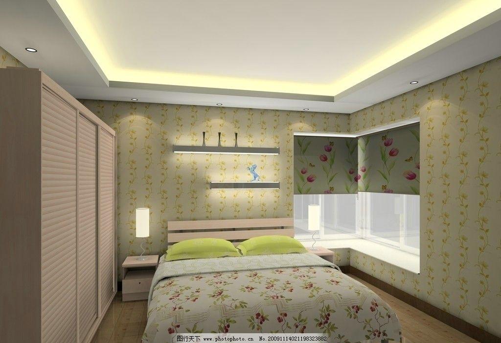 温馨卧房 卧房设计空间 衣柜 柜门 飘窗 壁纸 床 地板 板式家具