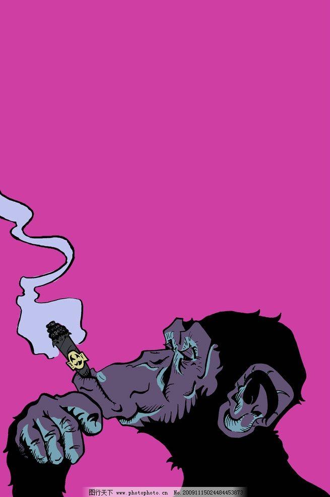 猩猩吸烟 猩猩 吸烟 大猩猩 黑猩猩 抽烟 香烟 野生动物 生物世界