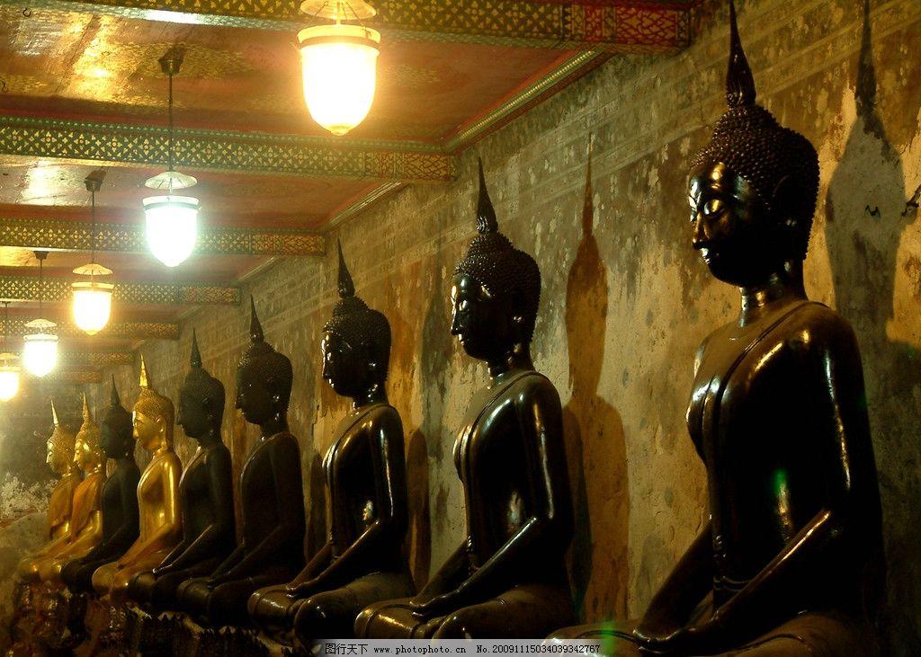 曼谷/东南亚 泰国 曼谷东南亚风情民族民俗 建筑 雕刻艺术石刻图片