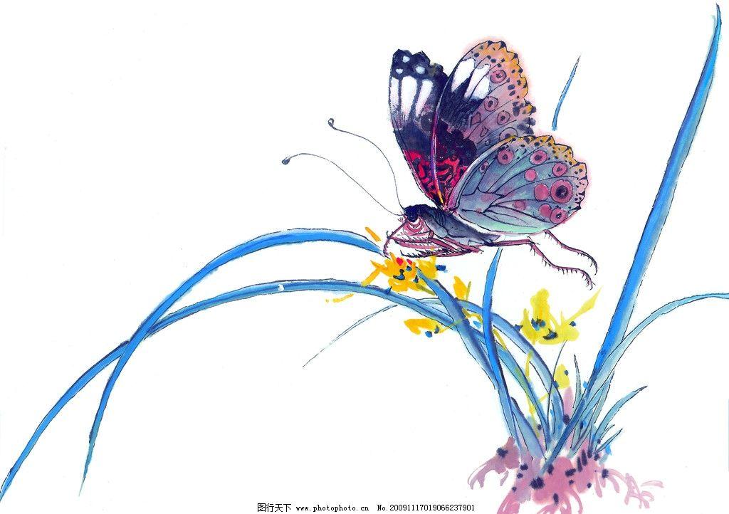 百态昆虫 百态 昆虫 蝴蝶 国画 古典 美术 绘画 中国美术图库 绘画
