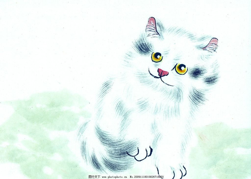 猫的专辑 猫 国画 古典 美术 绘画 中国美术图库 绘画书法 文化艺术
