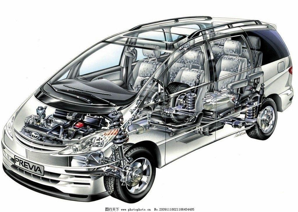丰田结构图片