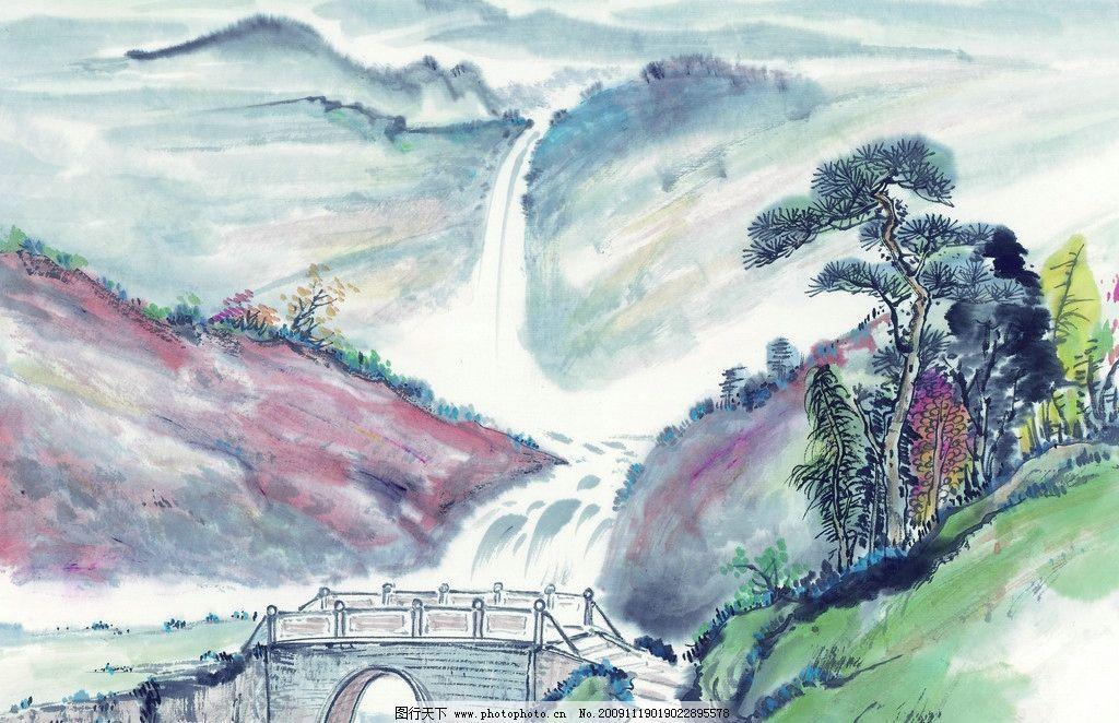 寄情山水 风景 国画 古典 美术 绘画 中国美术图库
