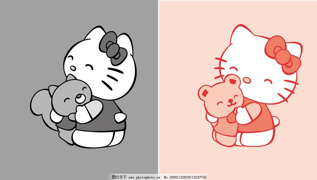 黑红猫 可爱的小猫 kitty猫 包装设计 广告设计 矢量 ai