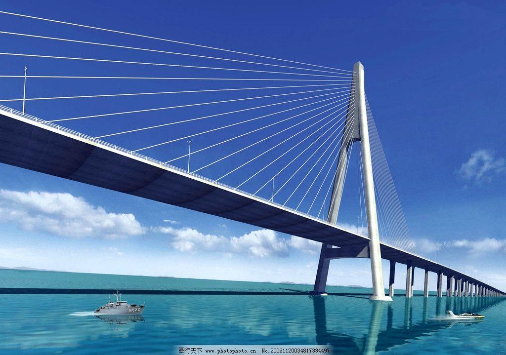 跨海大桥 a型独塔 杭州湾跨海大桥 自然风景 自然景观 摄影 300dpi