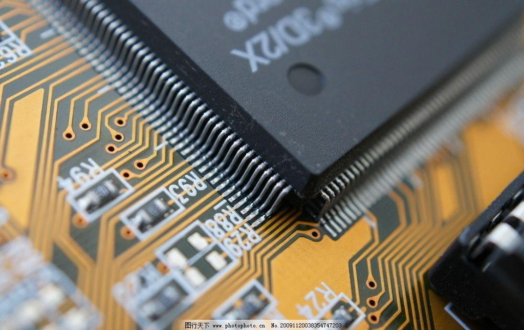 集成电路 微距 清晰 科学研究 现代科技 摄影 350dpi jpg