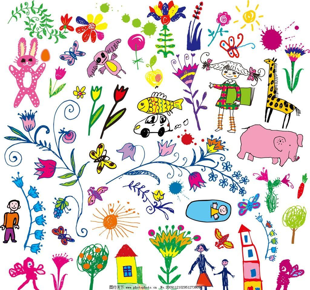 可爱儿童涂画图片