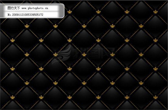 黑色格子花纹平铺背景矢量素材