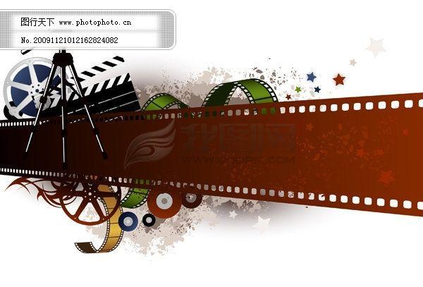 电影胶带主题矢量素材免费下载 电影 菲林 胶卷 胶片 电影 胶片 菲林