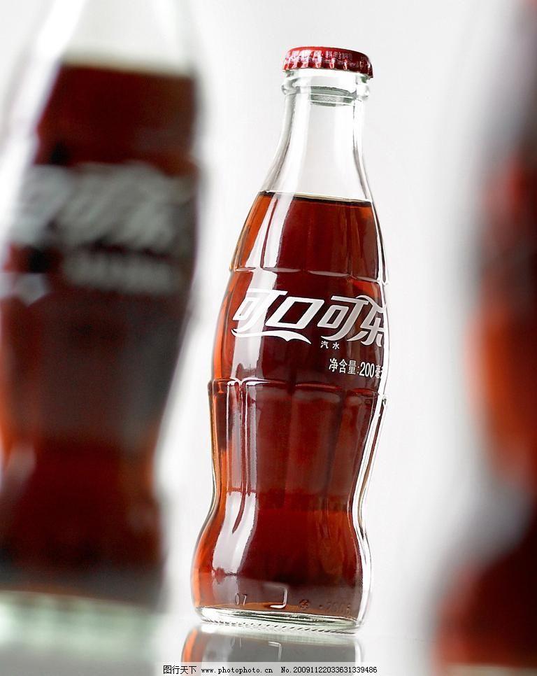 特写 饮料酒水 可口可乐图片素材下载 可口可乐 可乐 汽水 玻璃瓶