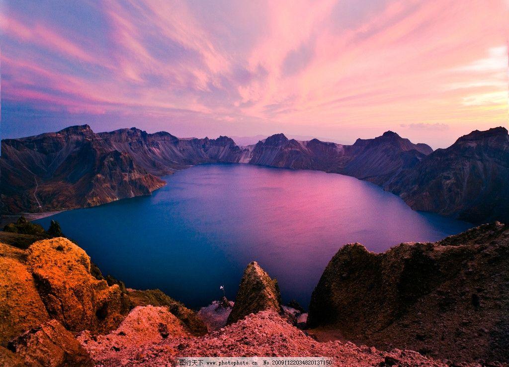 长白山天池 高清长白山天池 自然风景 自然景观 摄影 300dpi jpg