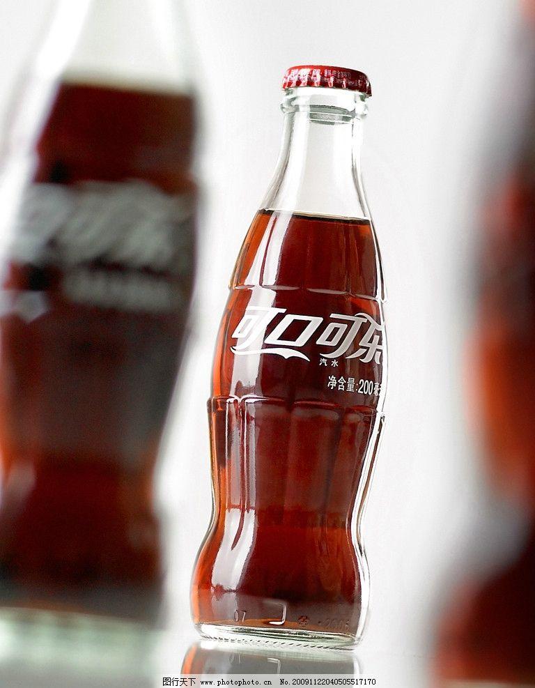 可口可乐 汽水 玻璃瓶 特写 摄影