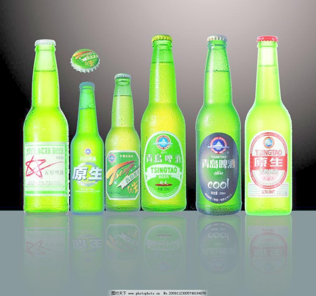 青岛纯生啤酒 分层图图片