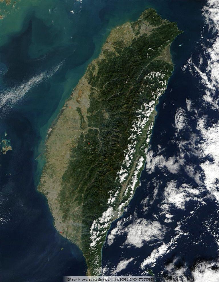 台湾岛卫星图 台湾 岛 风景名胜 自然景观 摄影 72dpi jpg