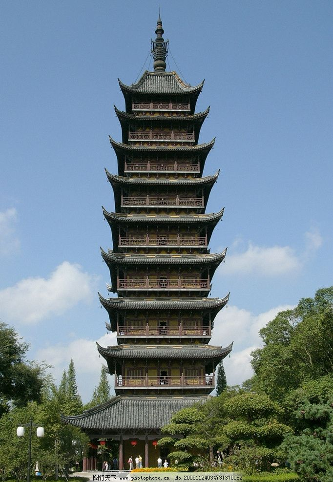木质观景塔