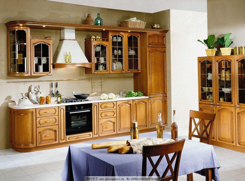 厨房高清图片 厨具 炊具 桌子 美食 厨房装修 厨房装修效果图 欧式