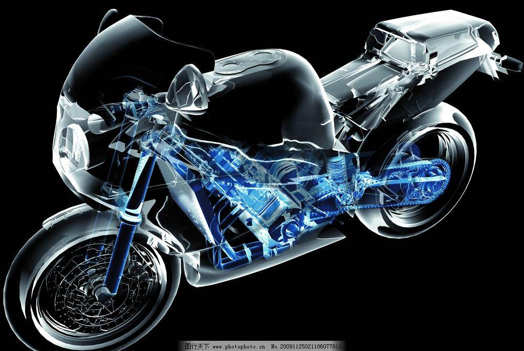 摩托车 x光 解剖 结构