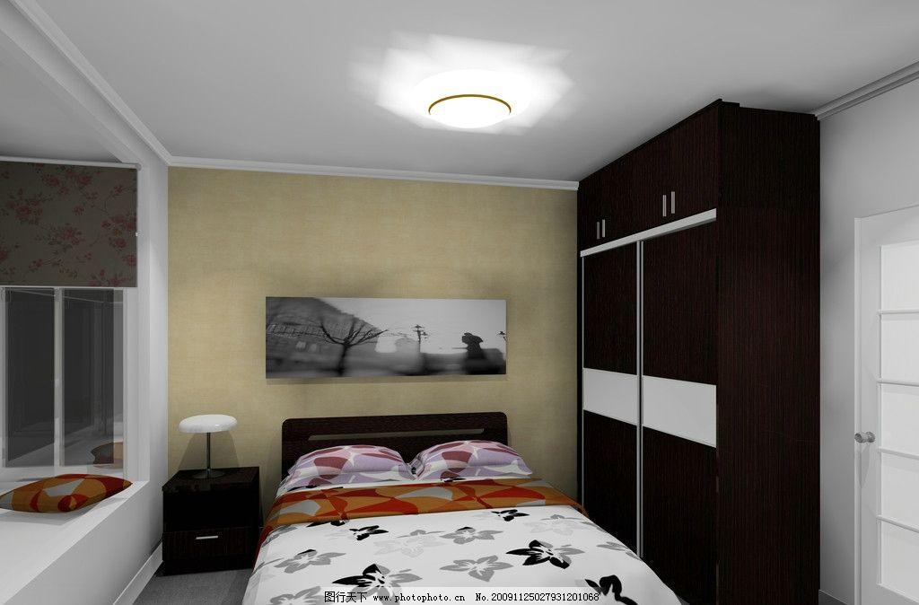 卧室效果图 床单 衣柜 卧室空间 板式家具 墙纸 床 尚品家具 室内设计