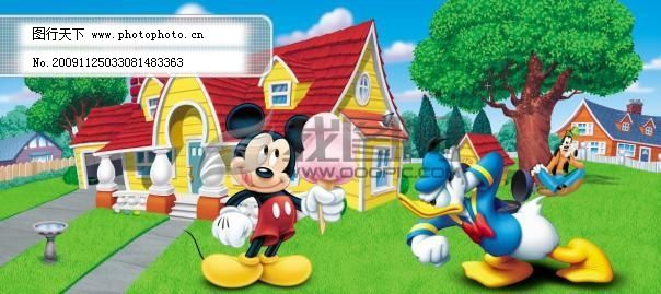 迪士尼卡通 房子 卡通场景 卡通风景 可爱卡通 可爱素材 迪士尼卡通